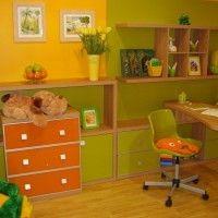интерьер зеленой детской комнаты