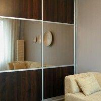 классический комбинированный шкаф купе лдсп зеркало