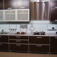 кухонный гарнитур зебрано для маленькой кухни