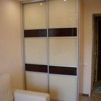 двухдверный шкаф купе с матовым стеклом