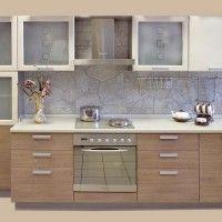 комбинированный кухонный гарнитур со стеновой панелью