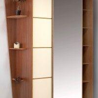 комбинированный шкаф-купе 2 двери лдсп зеркало радиусные полки