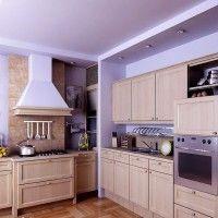 современный светлый кухонный гарнитур