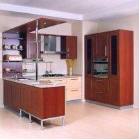угловые кухни с барной стойкой фото