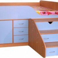 кровать чердак со шкафом