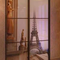 встроенный шкаф-купе с фотопечатью париж