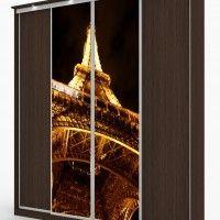 комбинированный шкаф-купе 4 двери фотопечать эйфелева башня