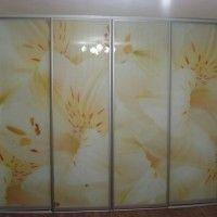 шкаф купе 4 двери фотопечать белые лилии