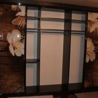 шкаф-купе 4 двери фотопечать цветы