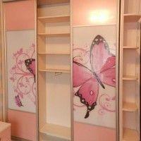 трехдверный шкаф-купе фотопечать бабочка