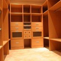 гардеробная комната из лдсп с ящиками