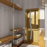 дизайн проект гардеробной комнаты с окном