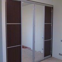 встроенный комбинированный шкаф купе 2 зеркальные двери 2 обычные