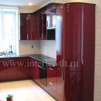 красные кухонные гарнитуры фото