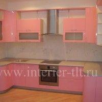 розовый кухонный гарнитур