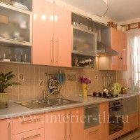 кухонные гарнитуры оранжевого цвета фото
