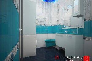 дизайн совмещенной ванной комнаты