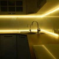 подсветка кухонного фартука